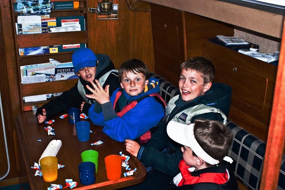 Kids tasting sailing!